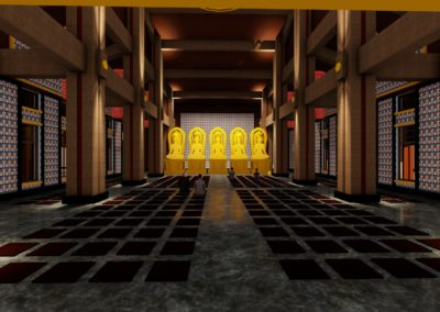 台灣大乘寺大殿室內