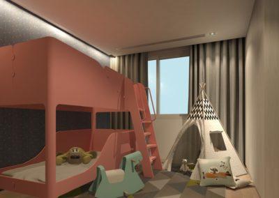南港日升邱宅小孩房空間模擬圖