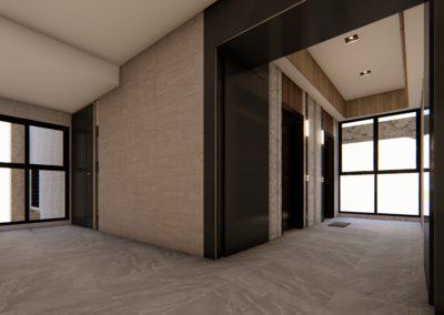 elevator hall - A